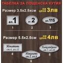 Табелка за Пощенска кутия