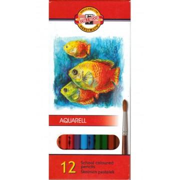 Цветни моливи, акварелни KOH-I-NOR - 12 цвята