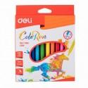 Флумастери Deli ColorRun, 12 цвята