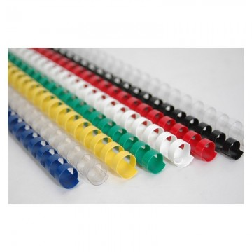 Пластмасови спирали за подвързване Ф-18mm, до 135 листа