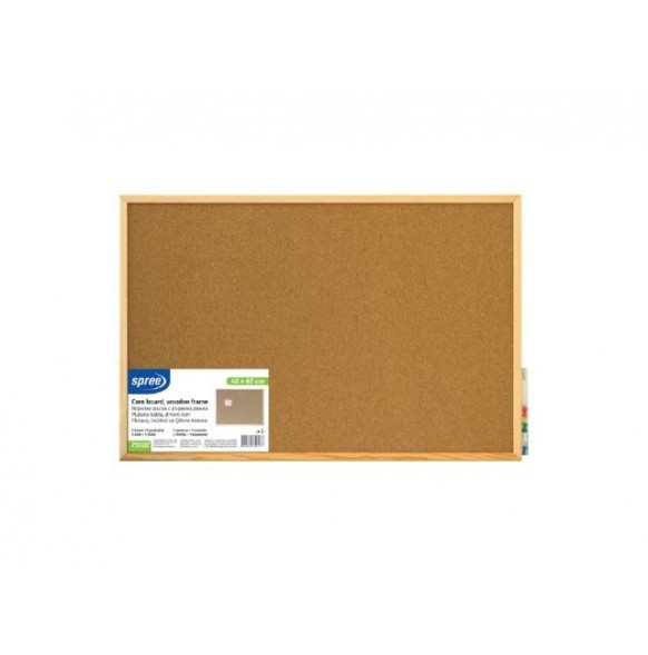 Корково табло с дървена рамка 60х90 см  Spree