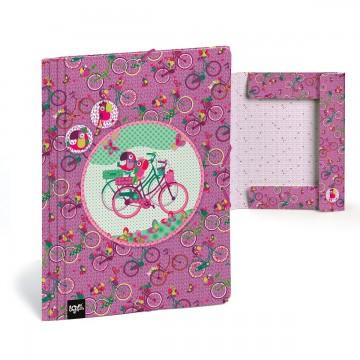 Папка с ластик Велосипед, картон, А4, Gabol Love Busquetss