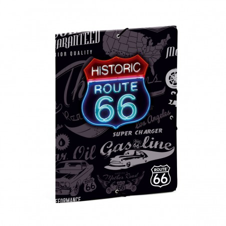 Папка с ластик Route 66, картон, А4, Gabol Love Busquets