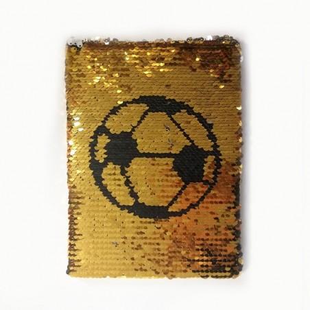 Тефтер с пайети Футболна топка, формат А5, 80 листа