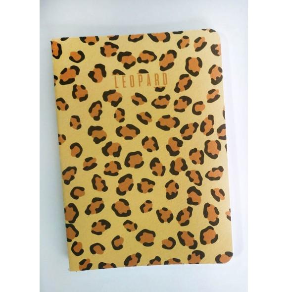 Бележник А6 Леопард, 40 листа, редове