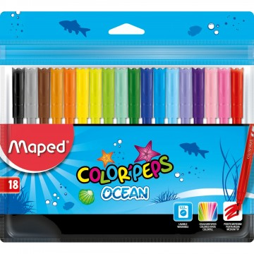 Флумастери Maped ColorPeps - 18 цвята