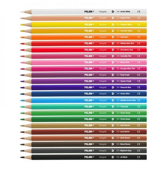 ,Цветни моливи,, Milan,, 24 цвята,