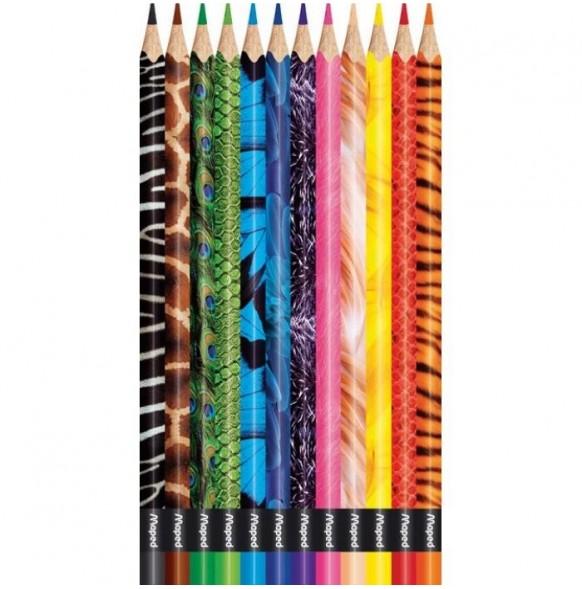 Цветни моливи Maped ColorPeps, 12 цвята