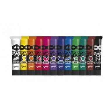 Темперни бои Maped, 12 цвята