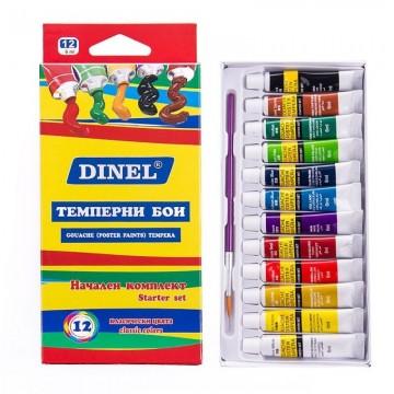 Тепмерни бои Dinel, 12 цвята