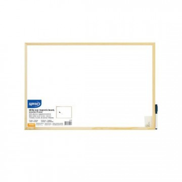 Бяла дъска с дървена рамка Spree 60х90 см
