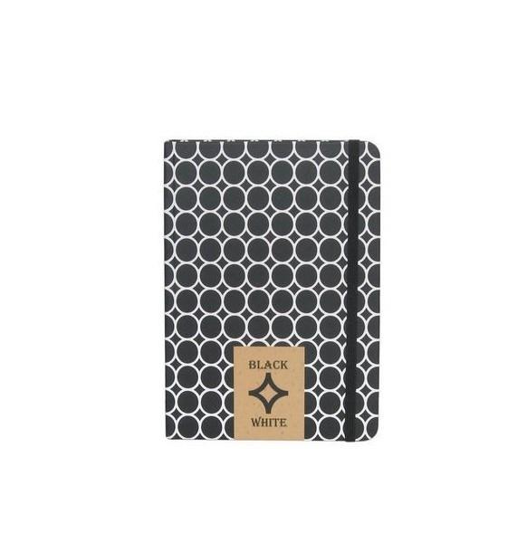 Бележник с черни листи, Black and White, 14х20 см.
