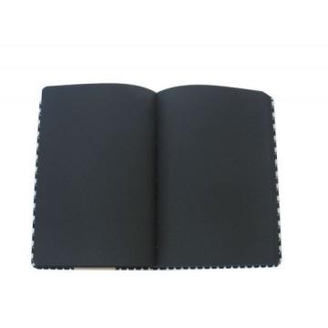 Бележник с ластик с черни листи, Black and White, 14х20 см.