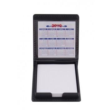 Кожена поставка за бюро с листчета и календар
