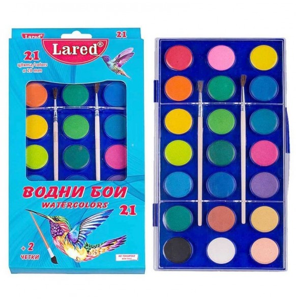 Водни бои 21 цвята, Lared