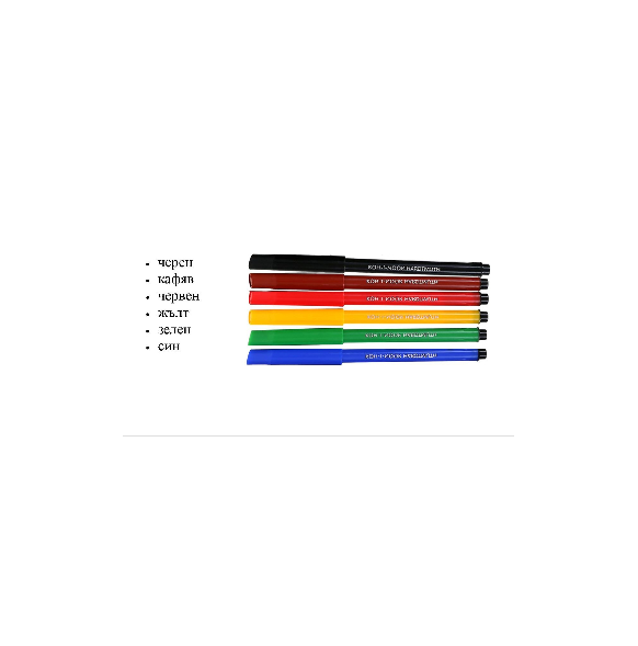 Флумастери Koh-I-Noor, 6 цвята