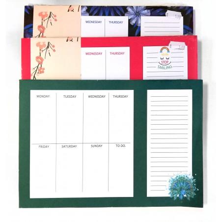 Седмичен планер с цветни листи, Spree