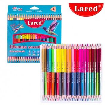 Двувърхи цветни моливи...