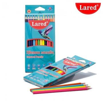 Цветни моливи Lared - 12 цвята