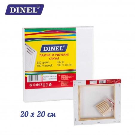 Платно за рисуване 20x20 см, 100% памук, Dinel