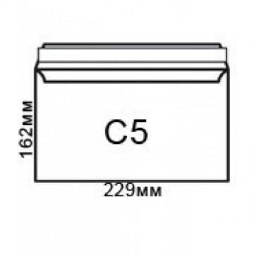 Плик джоб C5, бял с лента