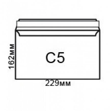Плик джоб C5, бял с лента 162 x 229 мм