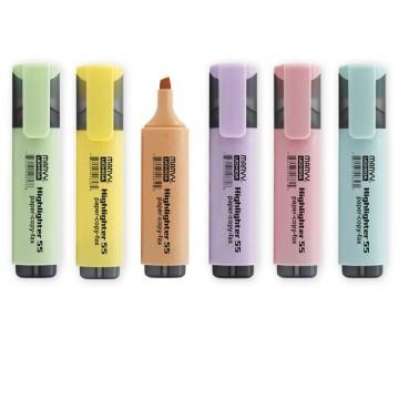 Текст маркер Marvy Uchida 55, пастелни цветове