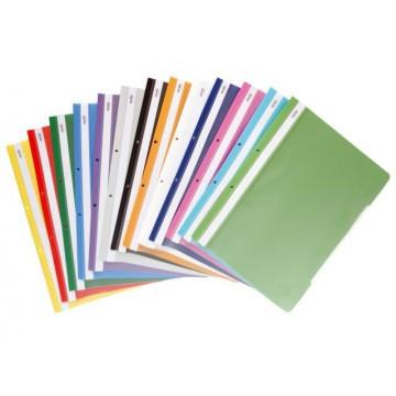 Папка с прозрачно лице и перфорация PVC А4, Spree